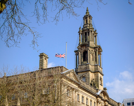 Union flag at half mast in Preston Pic: Paul Melling