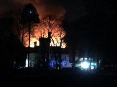 A picture taken from the observatory of the Alston Hall fire