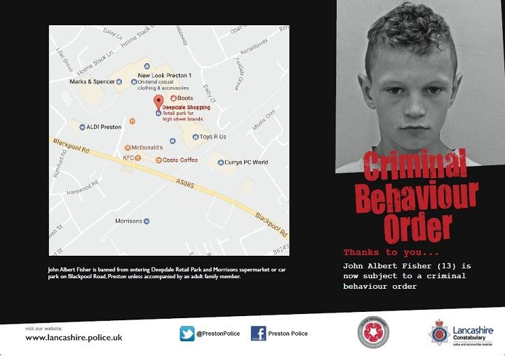 Leaflet being circulated by Preston Police