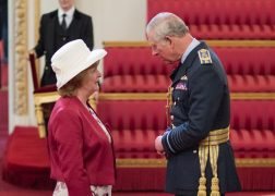 Dame Caroline Watkins meets Prince Charles