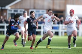 England under-18s in action against France