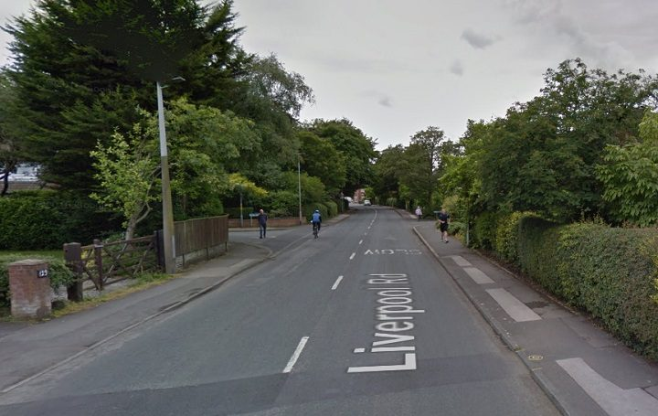Liverpool Road in Longton was closed for more than an hour Pic: Google