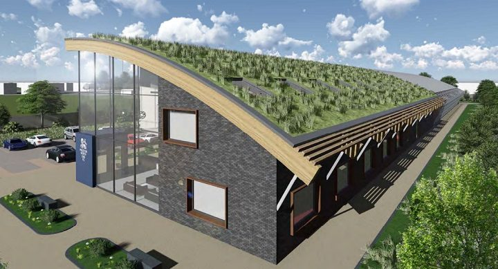 Part of the new training centre will have a 'living roof'