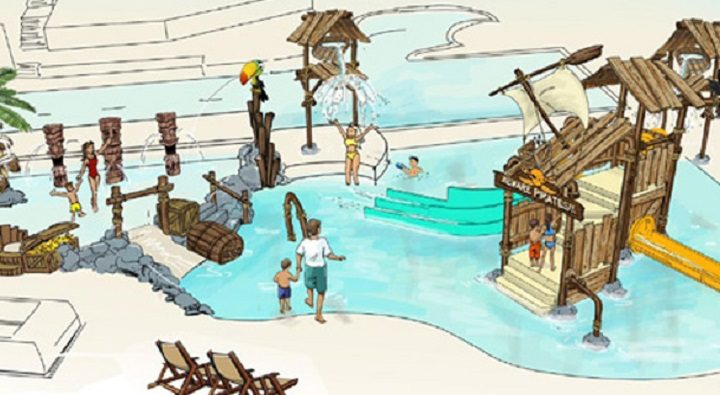 Artist impression of the new Ribby Hall pool