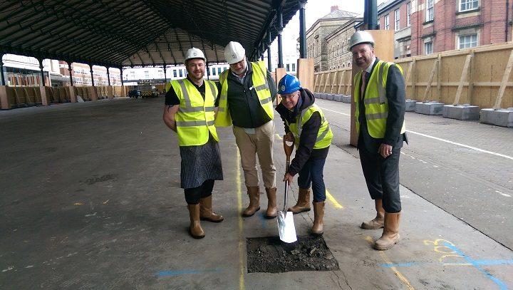 Sam Livesey, councillor Robert Boswell, councillor Peter Rankin and Michael Conlon
