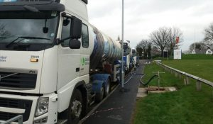 Water being piped into the mains at Royal Preston Hospital Pic: United Utilities