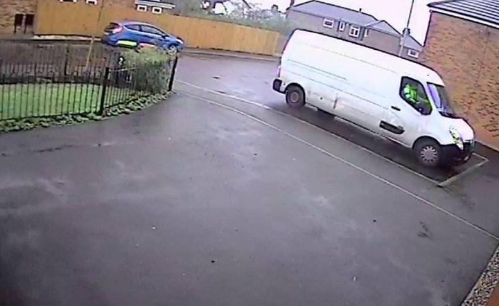 White van parked up in Broughton