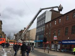 The aerial platform in operation in Fishergate Pic: Jennifer Livesey