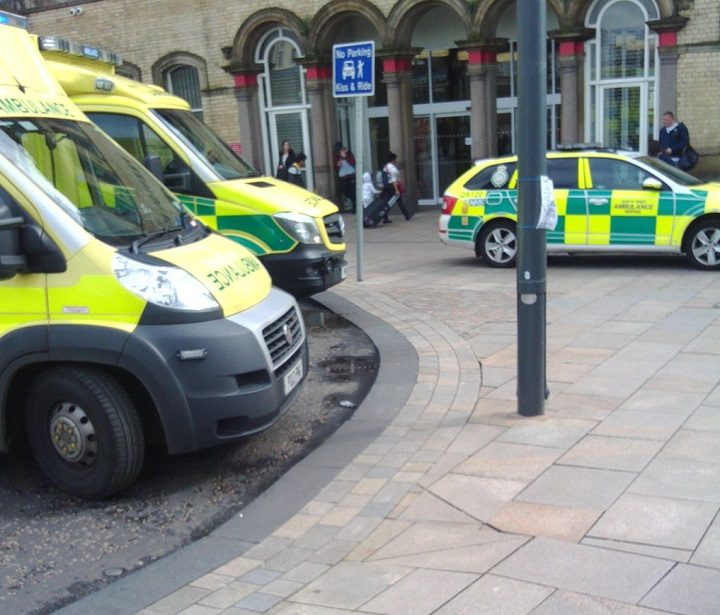 Ambulance service respond to the incident at Preston Station Pic: Auriga_