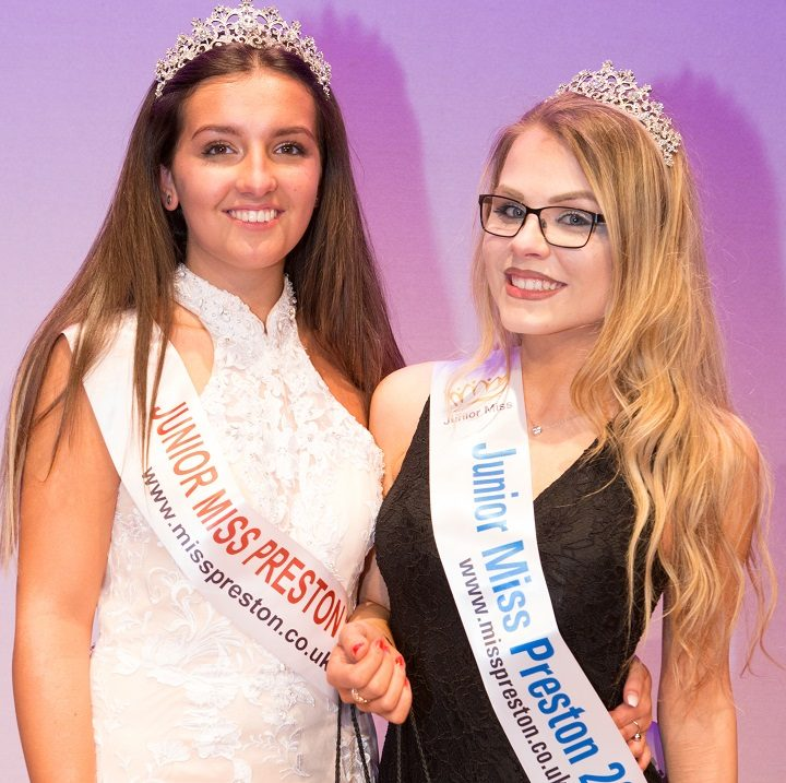 Elli Westwood handed over the Junior Miss Preston crown
