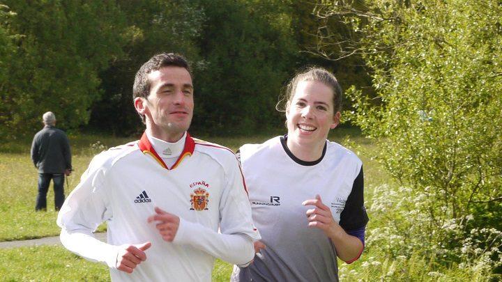 Matthew and Catherine enjoying a run