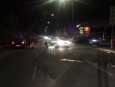 The scene in New Hall Lane on Thursday night Pic: Elizabeth Grant