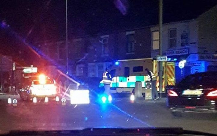 Emergency services in attendance in New Hall Lane Pic: Ant King