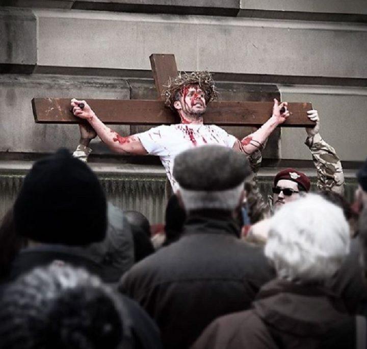 Christ's crucifixion took place in the Flag Market Pic: Stuart Bulman