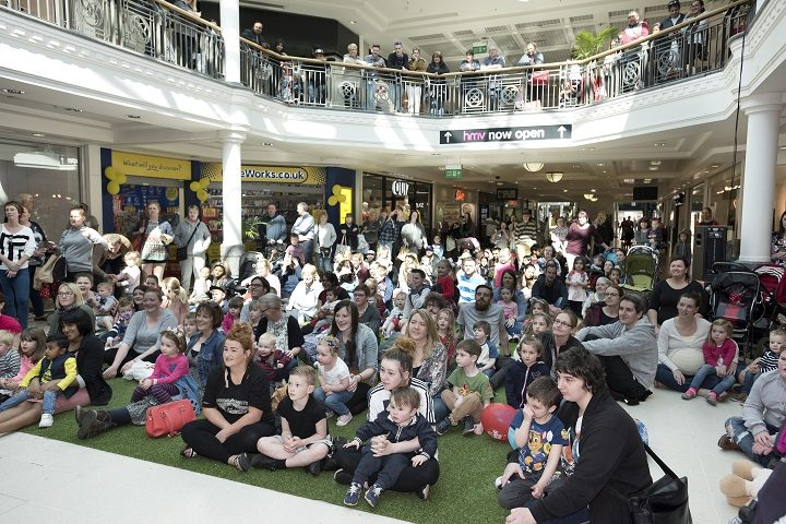 Crowds watch on during the CBeebies show