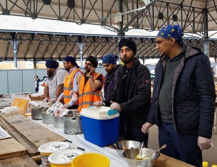 Some of the Guru Nanak's kitchen crew