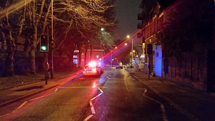 Walker Street closed off by Preston Police Pic: Paul Rudyard