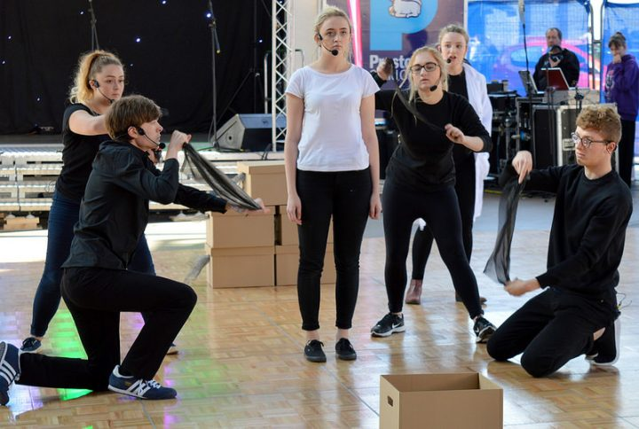 Students performing during the Lancashire Encounter Festival Pic: Tony Worrall
