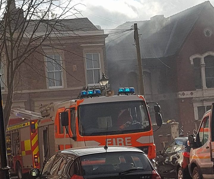 Fire crews in Avenham Place Pic: Kacper Krol