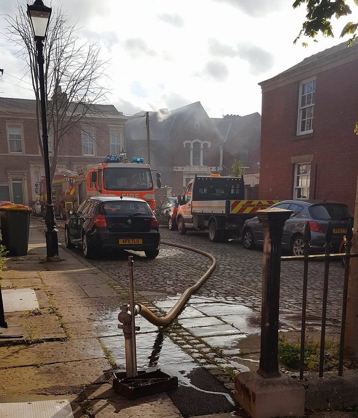 Water being pumped in Avenham Place Pic: Kacper Krol