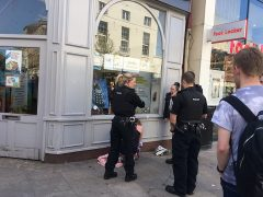 Police in Fishergate during Thursday lunchtime Pic: Benjamin Wareing