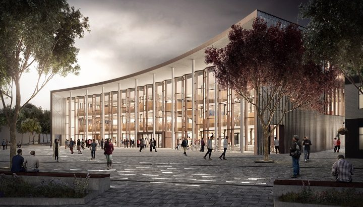 An artist impression of the new student centre proposed by UCLan