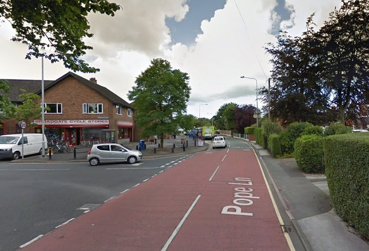 Pope Lane has been closed by police Pic: Google