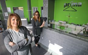 Franchisee Alison Cannon (left) with business owner Natasha Davies