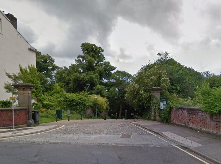 The incident took place close to the Ribblesdale Place entrance to Avenham Park Pic: Google