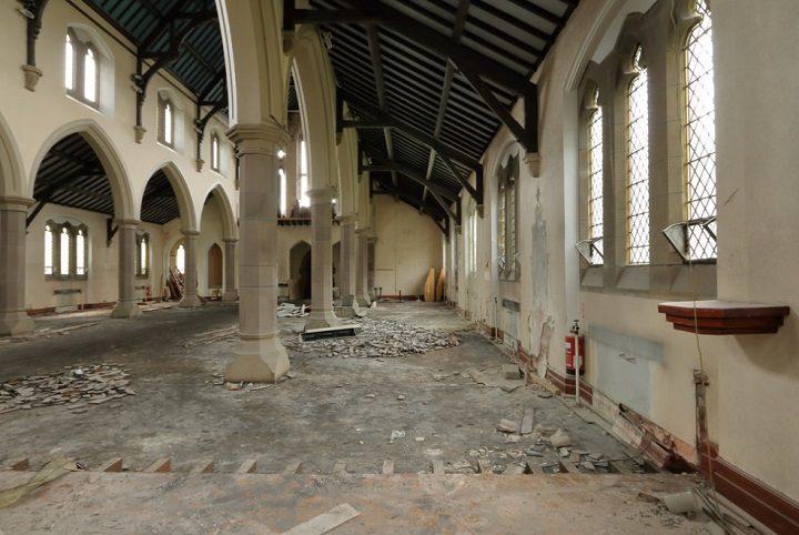 Inside the former Roman Catholic Church