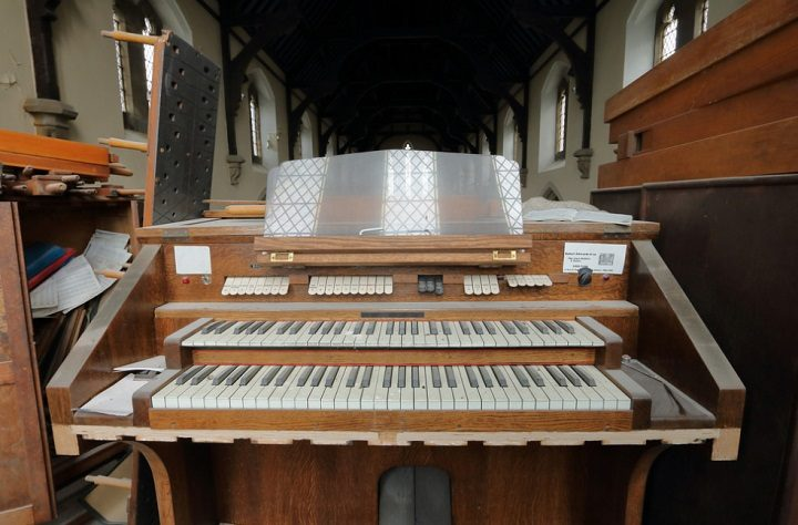 The organ is still in place