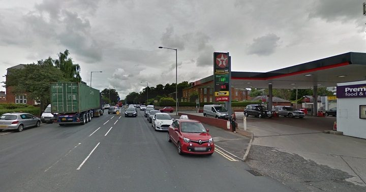 The incident took place near the Texaco Garage Pic: Google