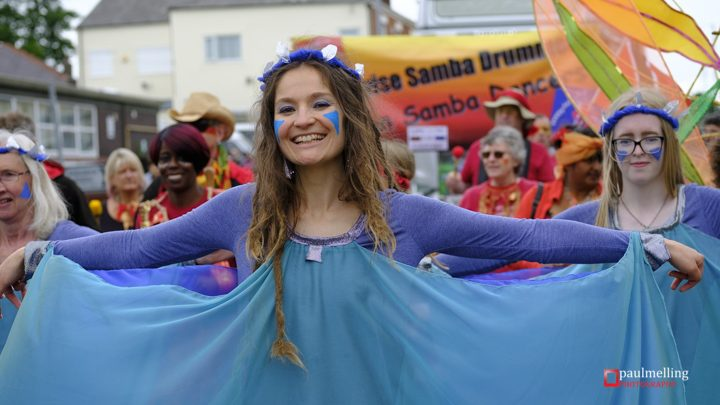 One of the dancers in the parade Pic: Paul Melling