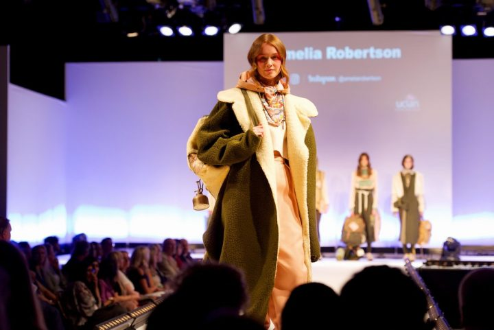 One of Amelia Robertson's fashion designs