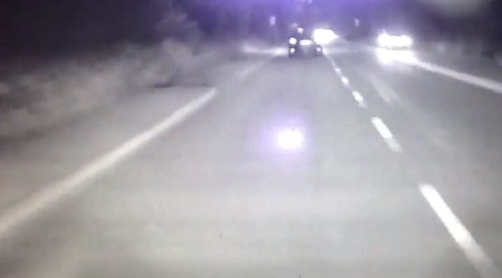 Brockholes Brow dashcam footage shows the police chase