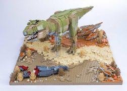 One of Warren's dinosaur creations