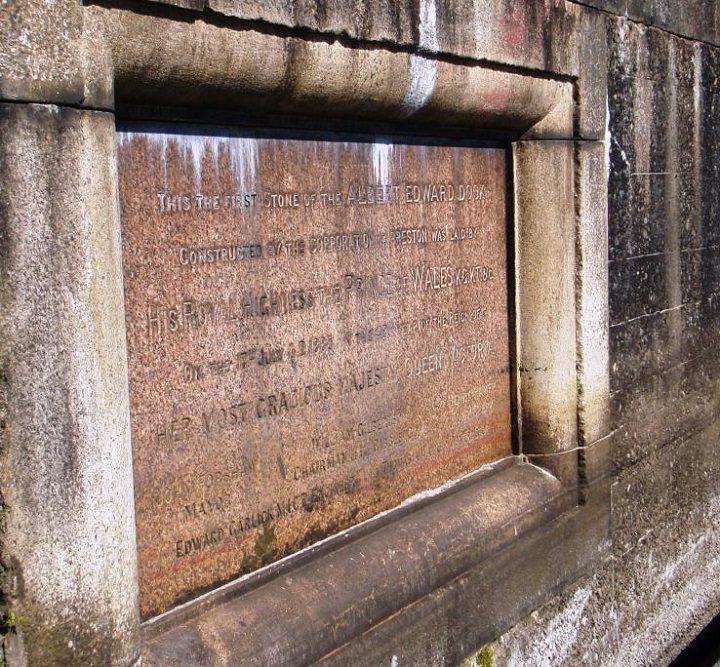 Foundation Stone at Preston Docks