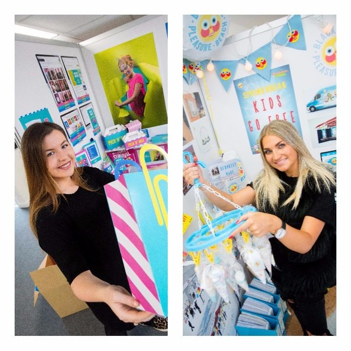 Jessica Hutchinson and Daisy Bunting show off their fashion promotion work