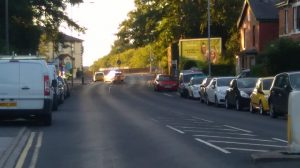 Police activity in Leyland Road on Saturday night Pic: Cllr Keith Martin