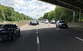 The scene of the M6 northbound crash Pic: LancsRoadPolice