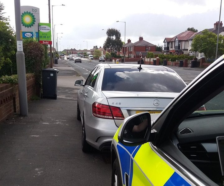 Lancashire Road Police stopped and seized the Mercedes