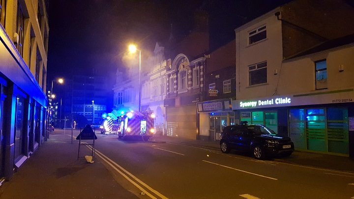 Another view of the fire in Ormskirk Road