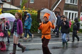 This lad's expression summed up the weather on the procession Pic: Lancashire Journal