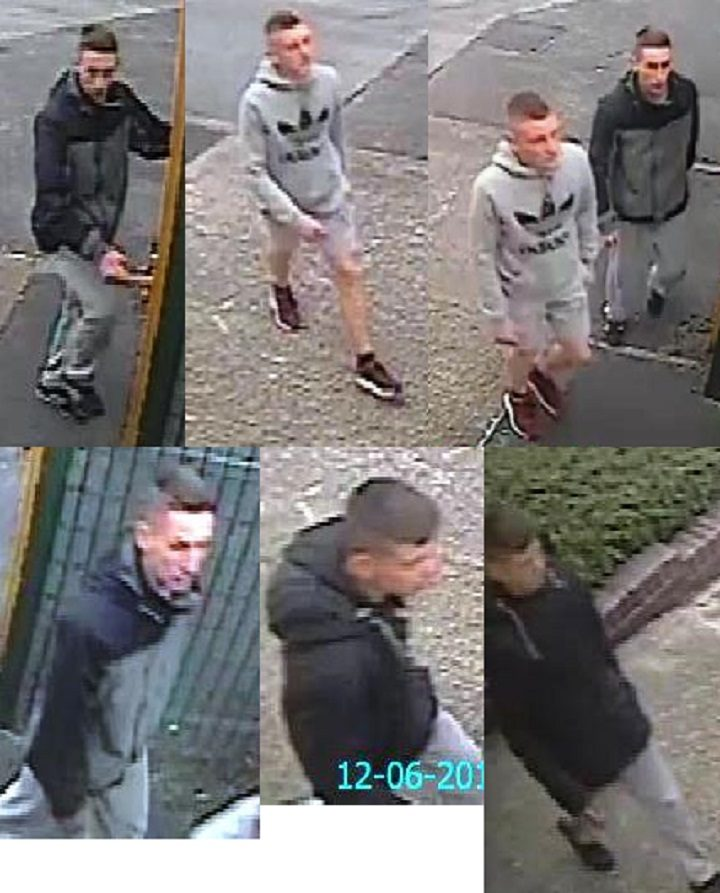 Pictures of a number of young men have been released in connection with the incident