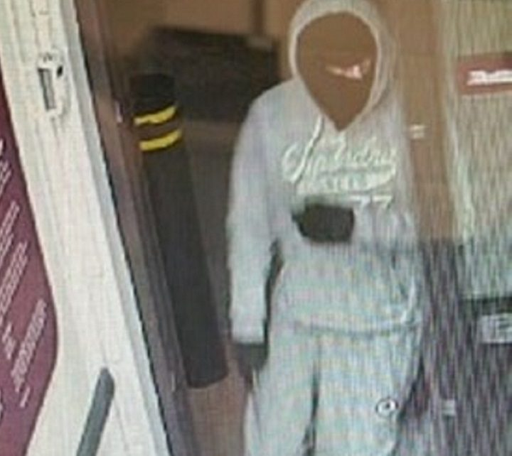 Picture released by police in connection with Ingol robbery