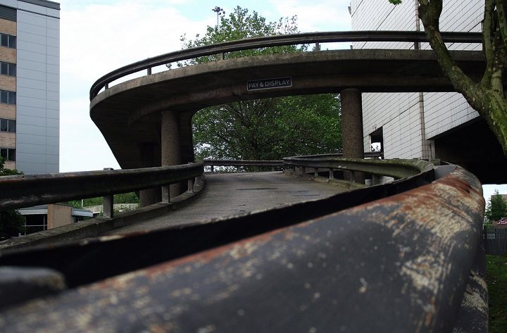 The northern ramp is seeing major restoration work Pic: Gill Lawson