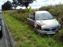 The car sustained some damage during the crash Pic: Lancashire Road Police