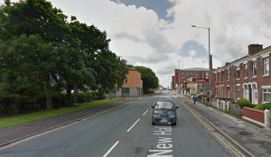 Firefighters were in New Hall Lane during Thursday evening Pic: Google