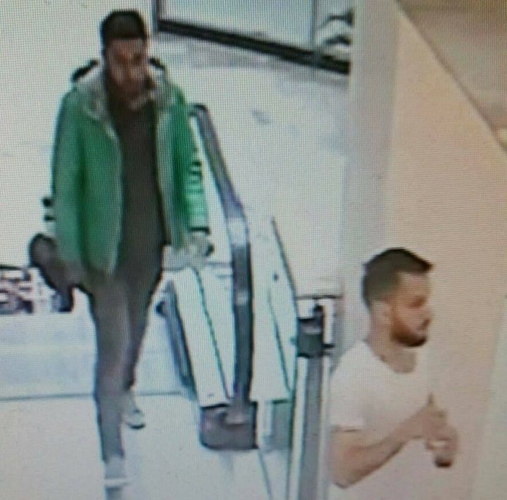 Picture of two men released in connection with the incident