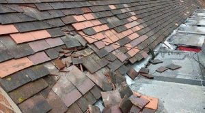 The state the nursery roof was left in Pic: Preston Police